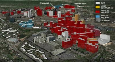 Long range development intensity plan for Tysons, Virginia, Fairfax County