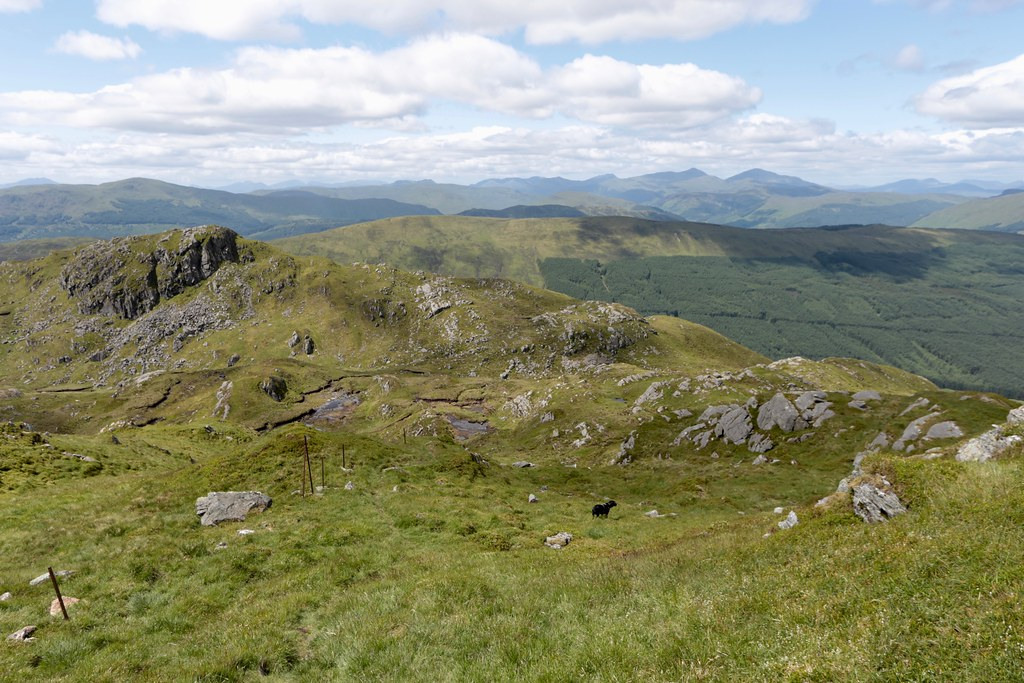West from Stuc a' Chroin