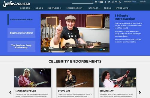Screenshot from JustinGuitar.com