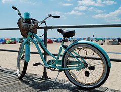 bicycle on the boardwalk