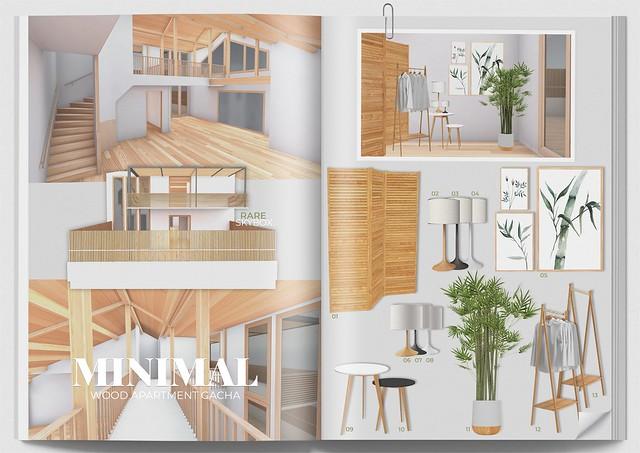 MINIMAL - Wood Apartment Gacha