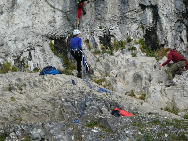 Rock climbing at Malham Cove