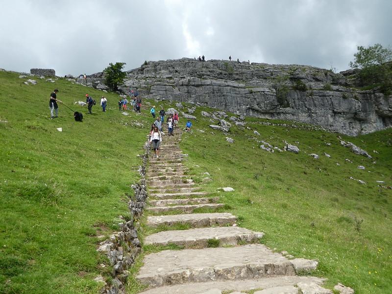 Steps to the Malham Cove Limestone Pavement