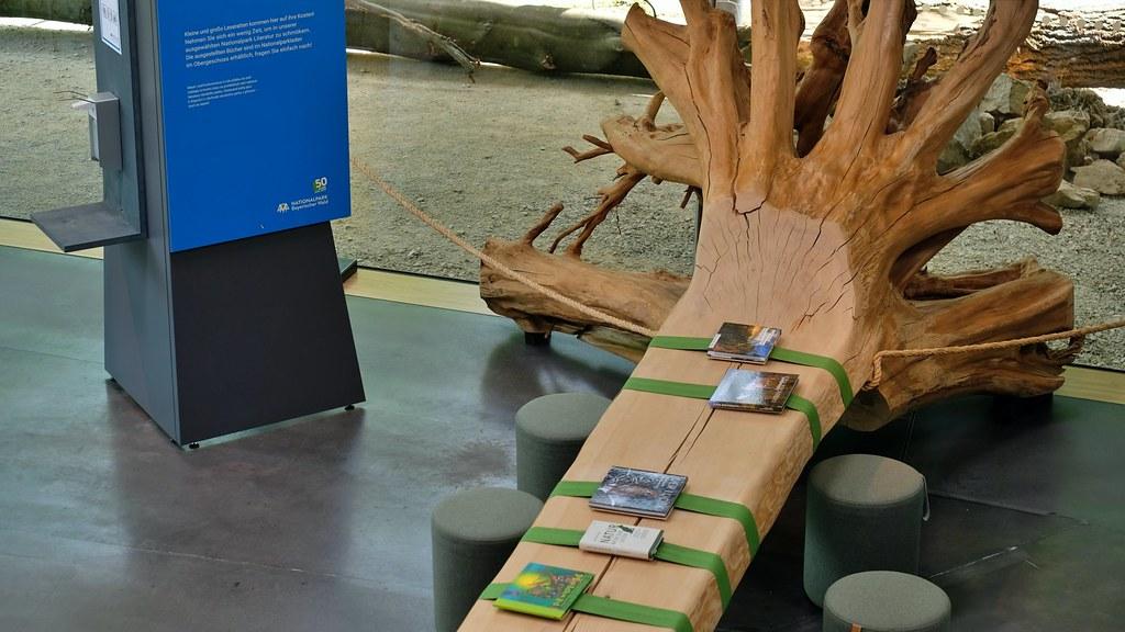 Baumtisch mit Corona Abstandshalter