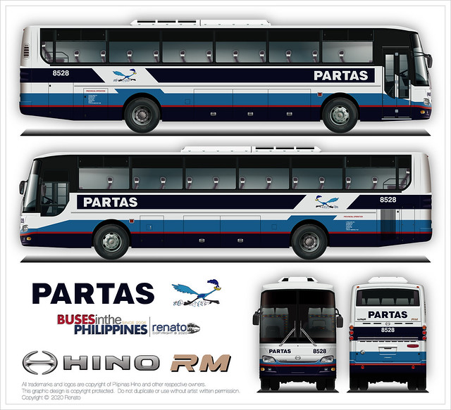 Partas in Hino RM (Dolphine Series Body)