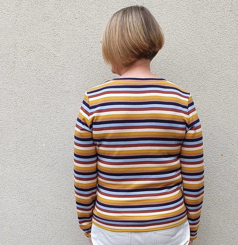 Sewaholic Renfrew tee in striped knit from Darn Cheap Fabrics