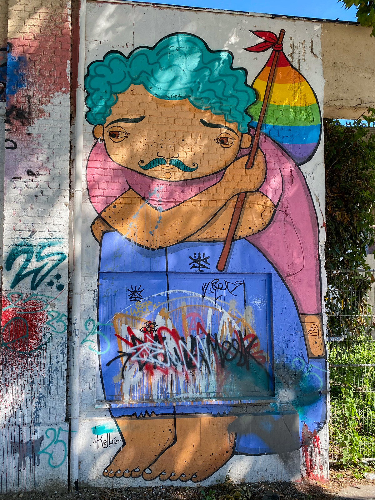 Vagabond street art by Kelber