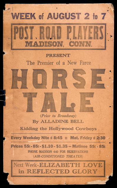 Poster ad for Horse Tale play, 1937