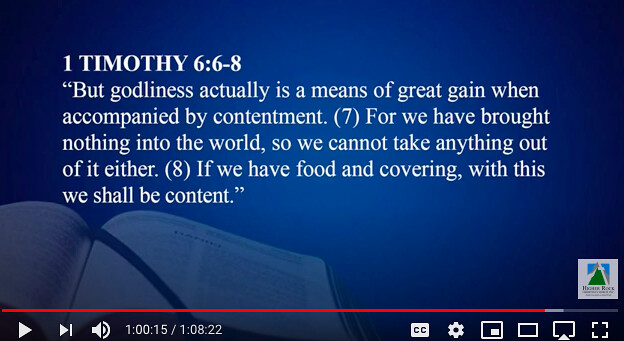 Godliness and contentment