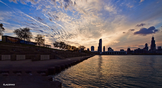 Chicago : sunset.