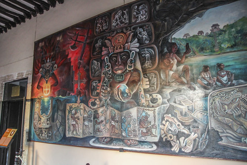 The Prehispanic Times, one of four murals housed in Valladolid's Municipal Palace, Mexico