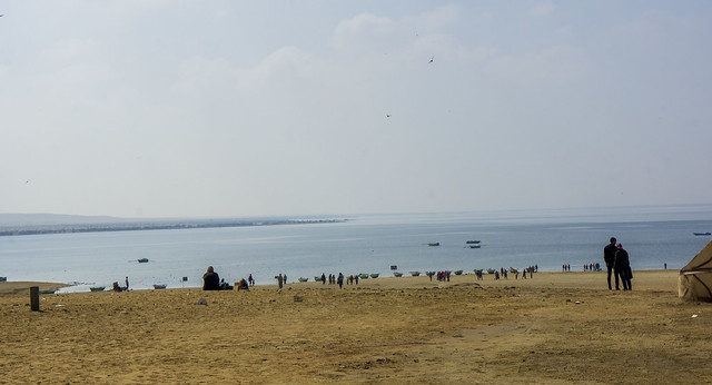The Upper lake of Egypt's Wadi El-Rayan in Fayoum