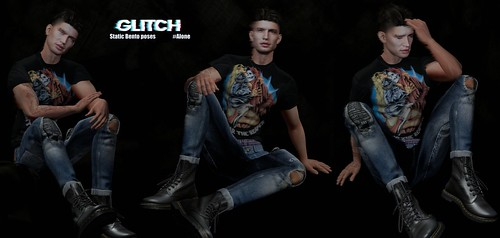 GLITCH // #Alone (Male bento poses)