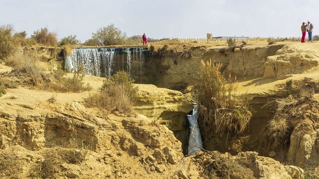 A waterfall in Egypt's Wadi El-Rayan in Fayoum