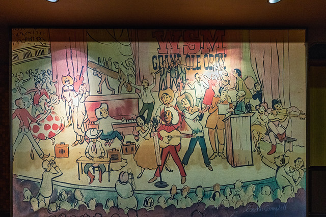 Artwork in the Grand Ole Opry that is about the Grand Ole Opry