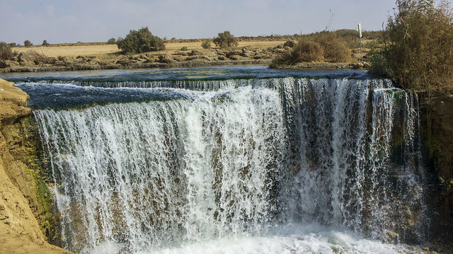 The waters of Egypt's Wadi El-Rayan in Fayoum