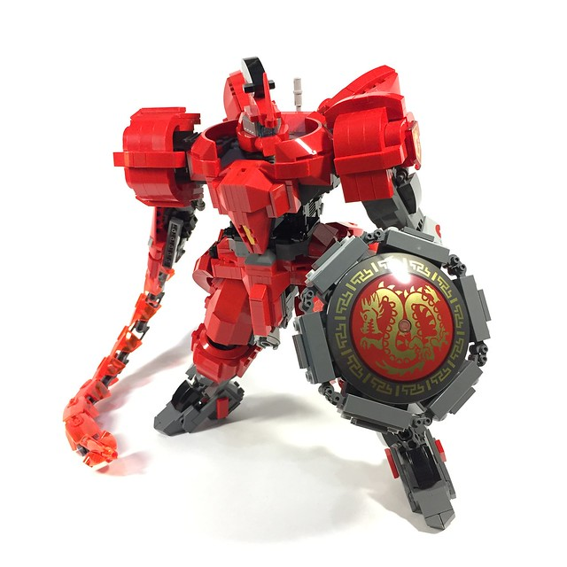 "NX-02 Armor-Hoplite ""Red Dragon"" with heat rod"