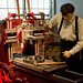 The Southern Museum 2013, working a late 19th century belt-driven drill press