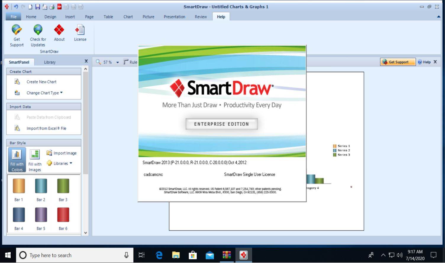 Working with SmartDraw 2013 Enterprise full license