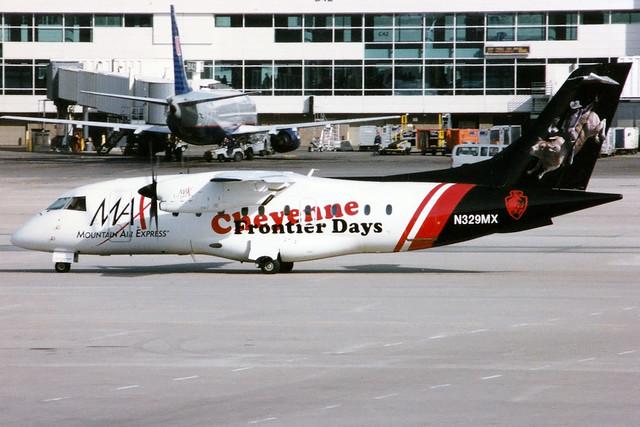 Mountain Air Express | Dornier 328 | N329MX | Cheyenne Frontier Days livery | Denver International