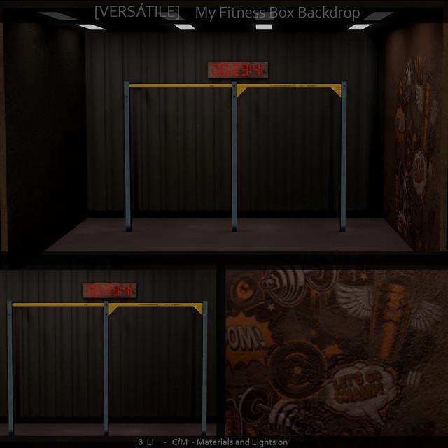 [Versatile] My fitness Box Backdrop