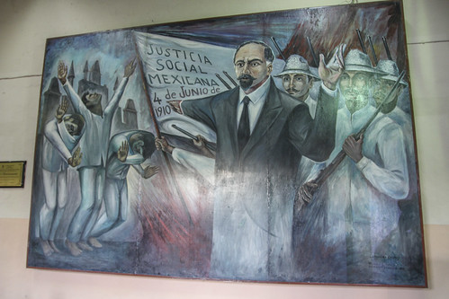 The First Spark of Revolution, one of four murals housed in Valladolid's Municipal Palace, Mexico