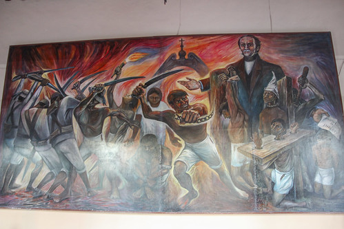 The Caste War, one of four murals housed in Valladolid's Municipal Palace, Mexico
