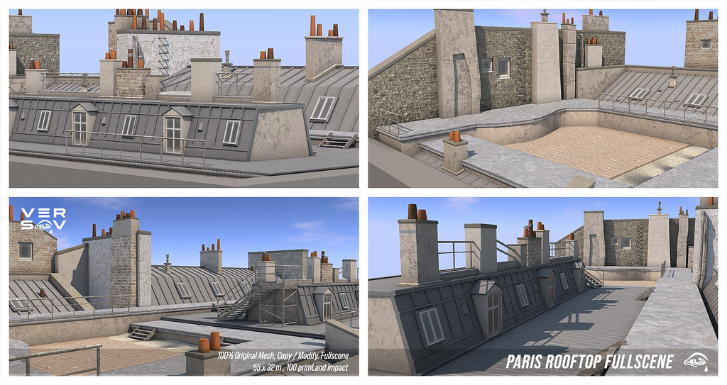 [ Versov //​ ] PARIS ROOFTOP FULLSCENE at Kustom9