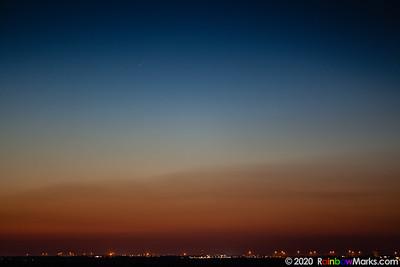 Neowise Comet over Lake Saint Louis, Missouri