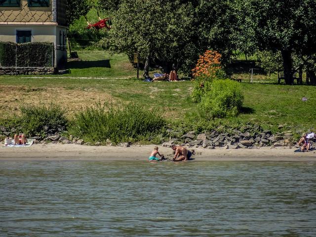 Enjoying the Danube River.
