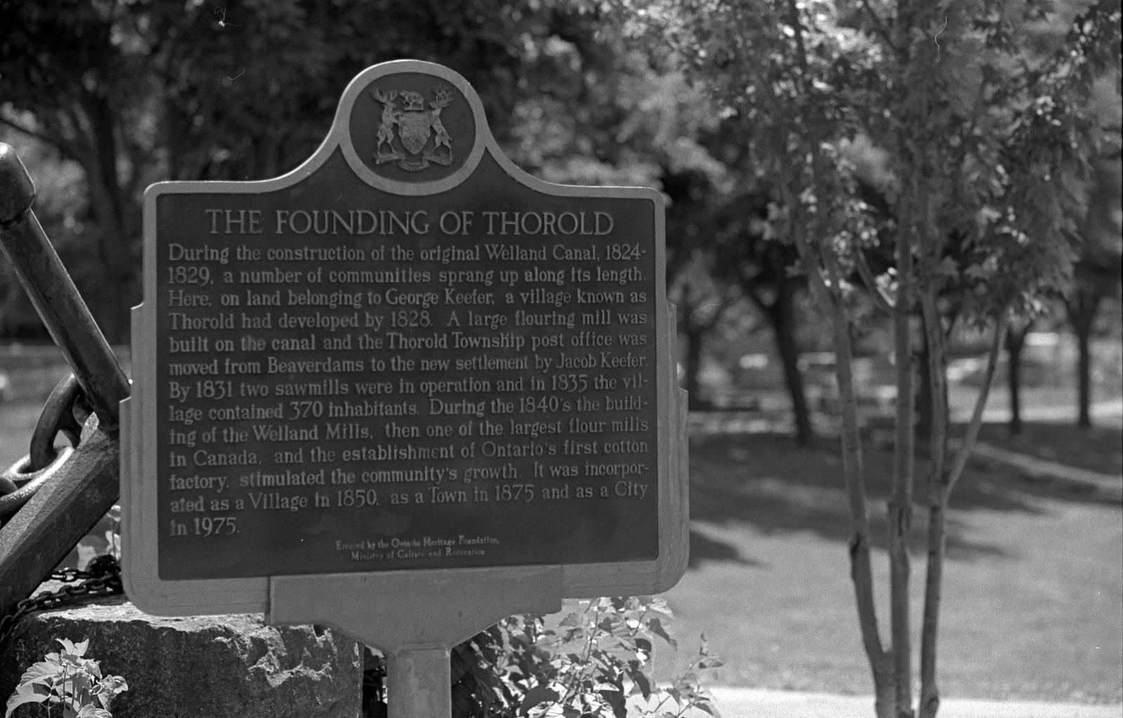 Founding of Thorold