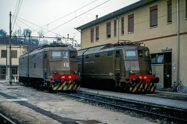 FS E 645.030 + E 636.045 Vicenza 25/03/1995. Foto Roberto Trionfini