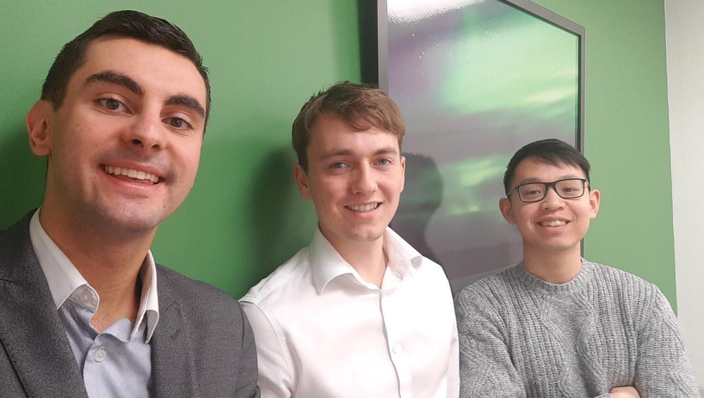 Three student prize winners