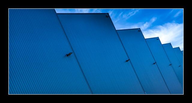 blue blocks vs. blue sky