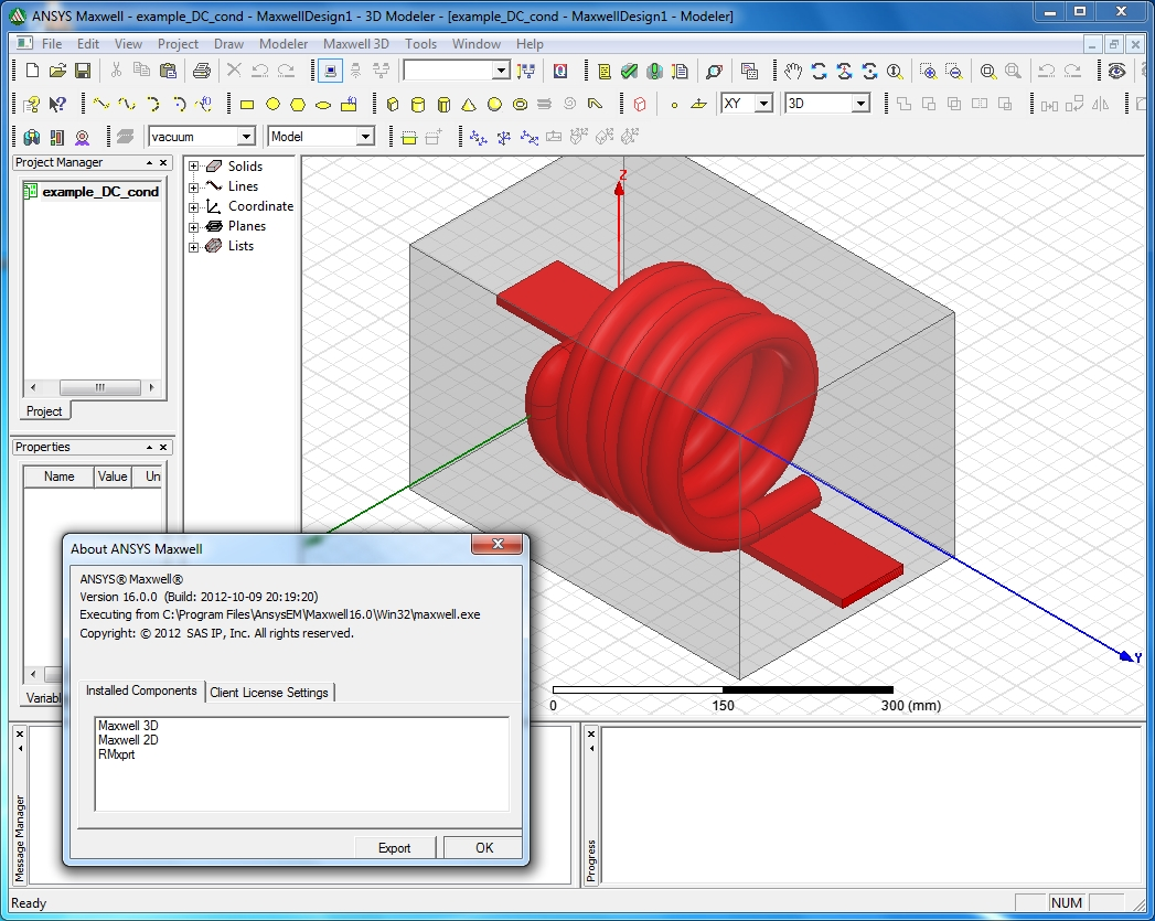 Working with ANSYS Maxwell 16.0 full