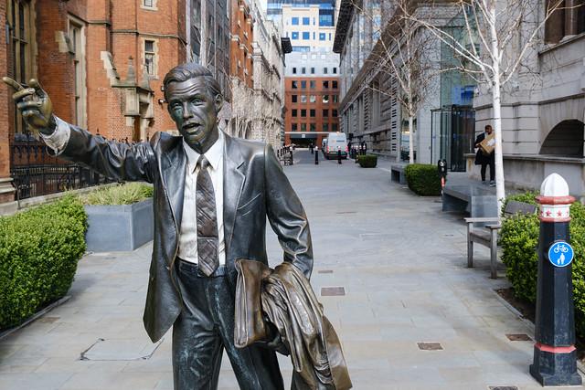 Taxi Statue John Carpenter Street London