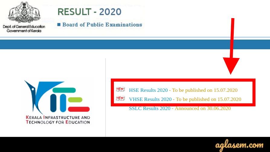 Kerala plus two result 2020 date