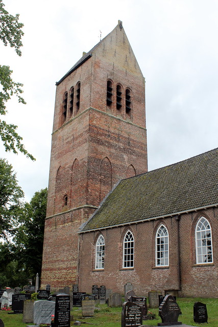 The Dutch Reformed church in Wijckel, the tower