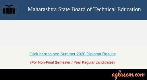 MSBTE Summer 2020 Diploma Result
