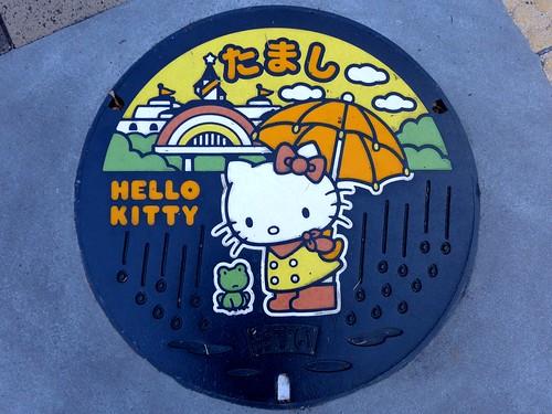Tama Tokyo, manhole cover 3 (東京都多摩市のマンホール3)