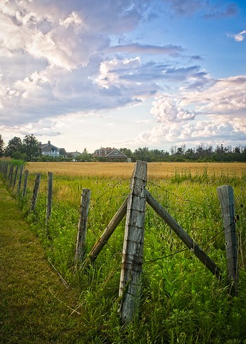 canada grimsby landscape ontario ortbaldauf colours nature niagara ortbaldaufcom outdoors photography summer fence farm farmland farmhouse field fields sky clouds blue