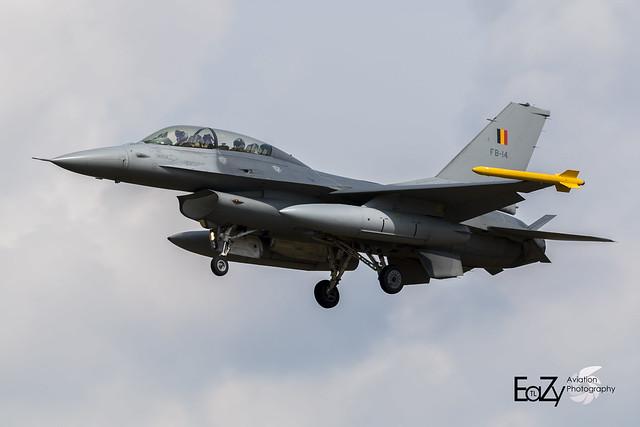 FB-14 Belgium Air Force SABCA F-16BM Fighting Falcon