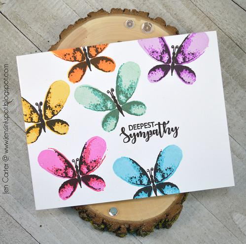 Jen Carter CP Rainbow Faithful Flutterings Sympathy 2