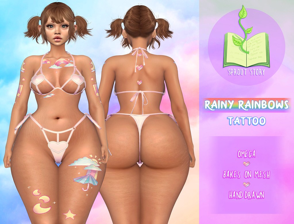 Sprout Story – Rainy Rainbows tattoo