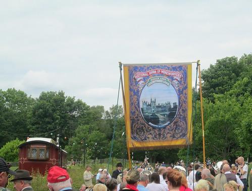 Miner's Banner, Gala Parade, Beamish