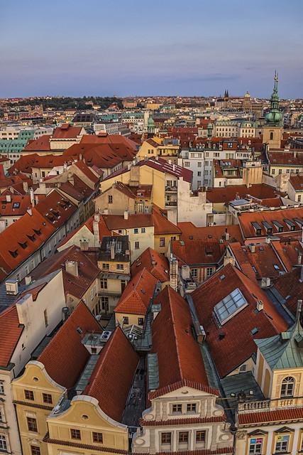 Con el sol de Praga a mis espaldas