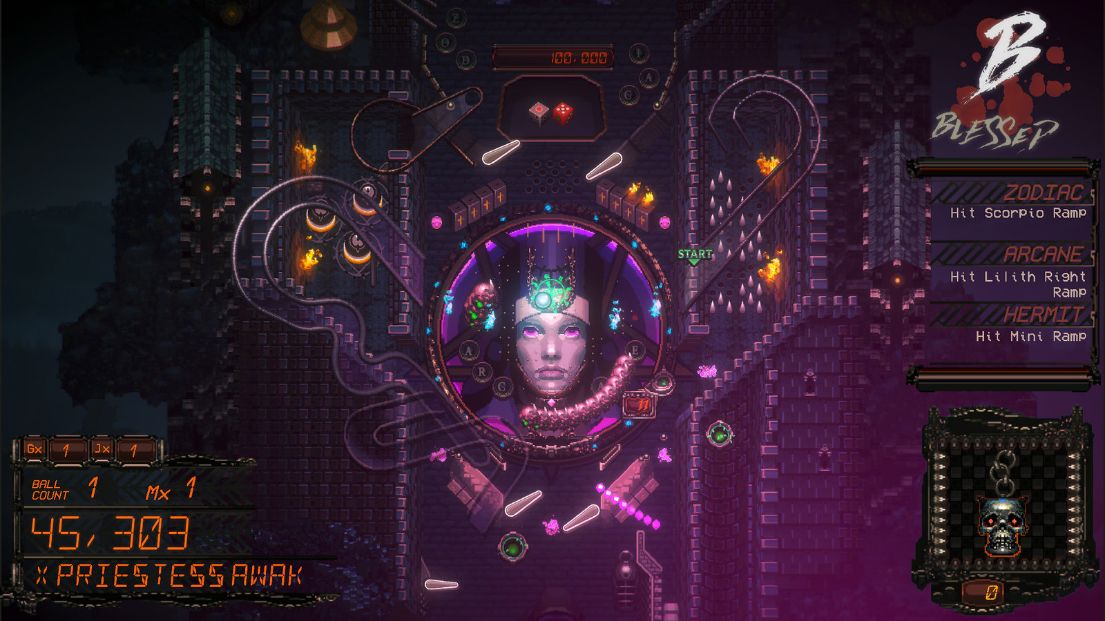 Demon's Tilt brings high-action video pinball to PS4 next Tuesday