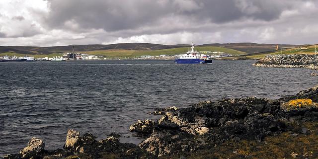 Ferry, Lerwick to Bressay, Shetland Islands, Scotland, UK