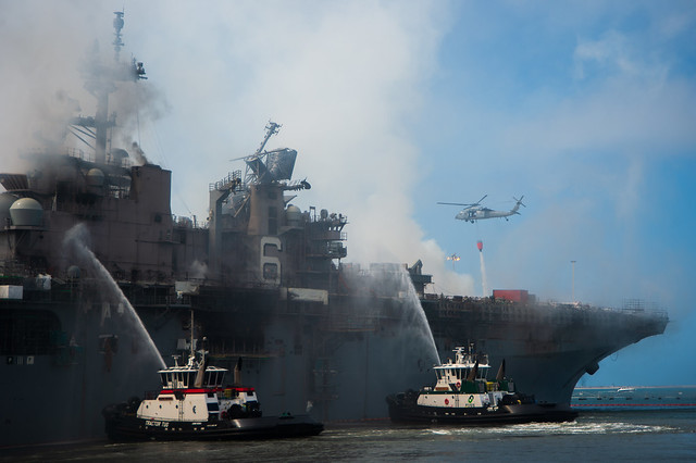 USS Bonhomme Richard (LHD 6) Firefighting Photos