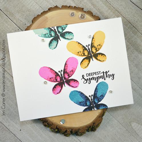 Jen Carter CP Rainbow Faithful Flutterings Sympathy